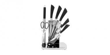 Set cuțite în suport, 8 piese